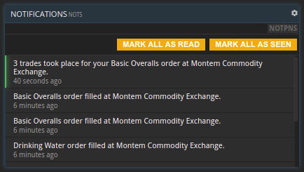 commodity notification